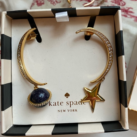 """Kate Spade  """"On The Rocks"""" Asymmetrical Earrings"""